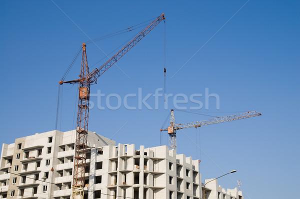 Bau Gebäude Himmel Büro Arbeit Rahmen Stock foto © mycola