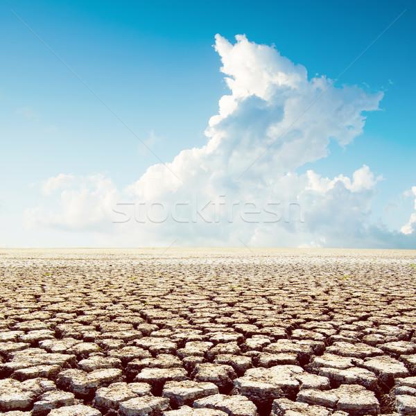 Forró időjárás sivatag felhők globális felmelegedés textúra Stock fotó © mycola