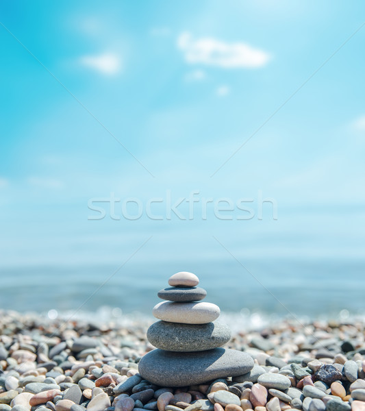 куча камней подобно zen морем мягкой Сток-фото © mycola