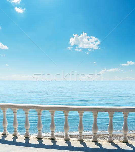 balcony near sea under blue sky Stock photo © mycola