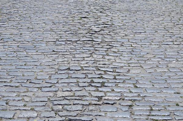 cobblestones on street as background Stock photo © mycola