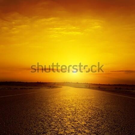 Fantastik gün batımı çöl doku güneş soyut Stok fotoğraf © mycola
