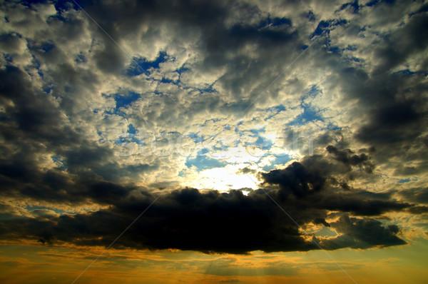 драматический красочный закат солнце пространстве Storm Сток-фото © mycola