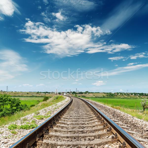 Sín út horizont mély kék ég égbolt Stock fotó © mycola