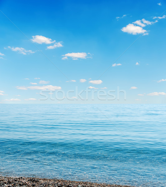 blue sea and sky over it Stock photo © mycola