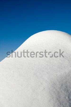 snow and deep blue sky Stock photo © mycola