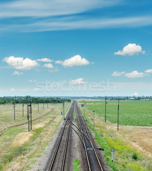 Dwa horyzoncie Błękitne niebo świetle tle Zdjęcia stock © mycola