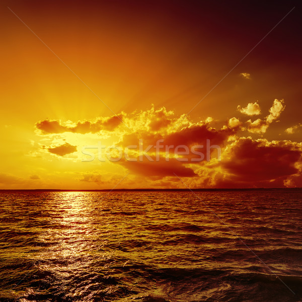 Arancione tramonto acqua nubi luce estate Foto d'archivio © mycola