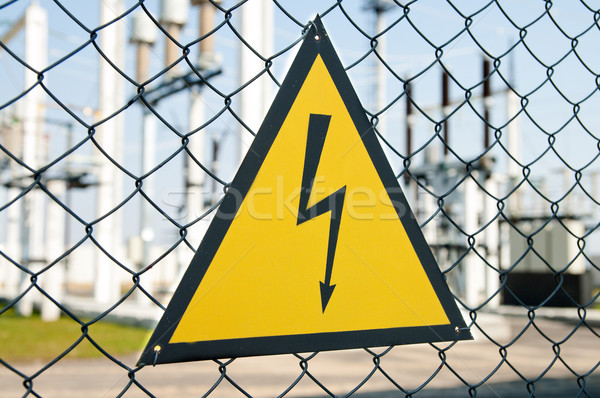 high voltage warning sign Stock photo © mycola