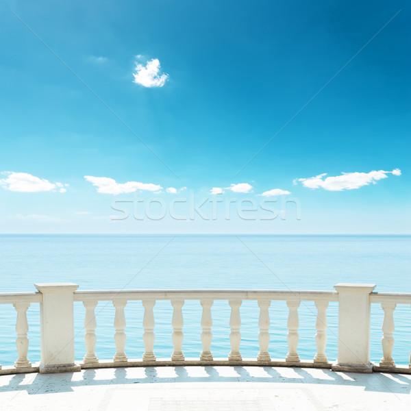 балкона морем глубокий Blue Sky воды облака Сток-фото © mycola