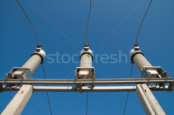 disconnecting switches on high-voltage substation Stock photo © mycola