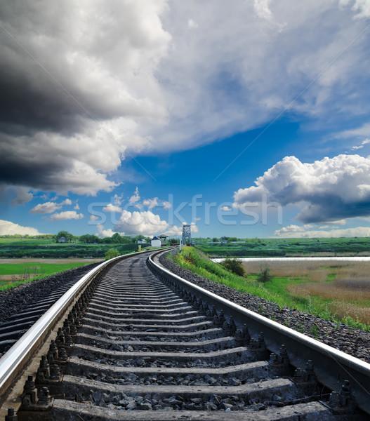 Stock photo: railroad to horizon