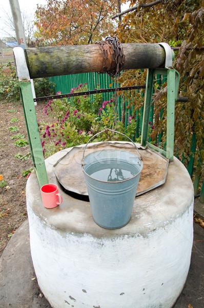 Vecchio bene acqua alimentare natura giardino Foto d'archivio © mycola