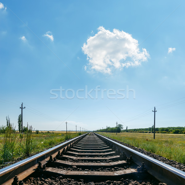 cloud in blue sky over railroad Stock photo © mycola