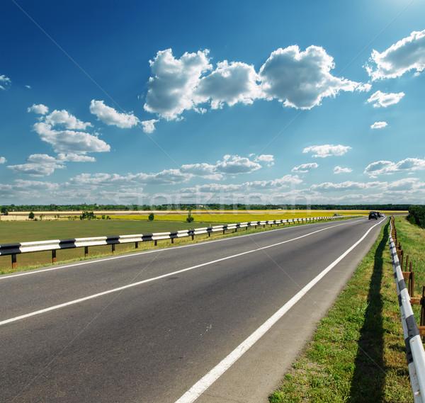 Asfalto strada orizzonte nuvoloso cielo natura Foto d'archivio © mycola