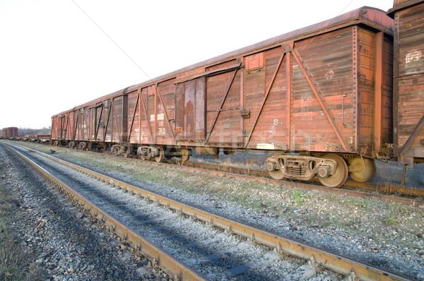 старые ржавые поезд железная дорога дороги металл Сток-фото © mycola