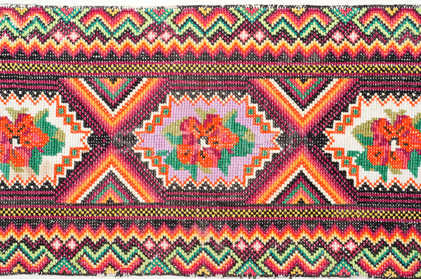 embroidered good by cross-stitch pattern. ukrainian ethnic ornam Stock photo © mycola