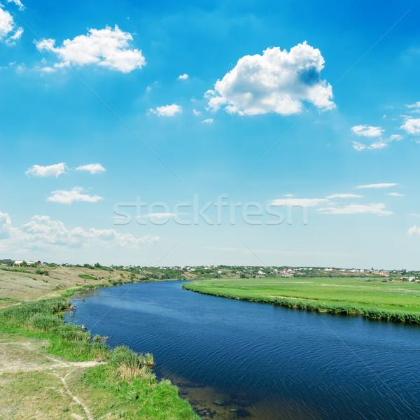 реке Blue Sky облака воды пейзаж лет Сток-фото © mycola