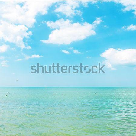 Masmavi deniz mavi gökyüzü bulutlar su manzara Stok fotoğraf © mycola