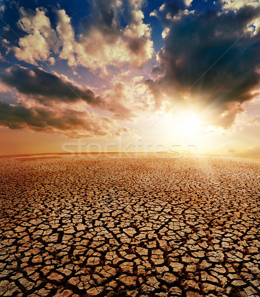 drought earth and dramatic sky Stock photo © mycola