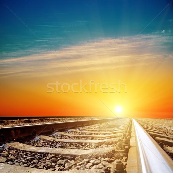 good sunset over railroad closeup Stock photo © mycola