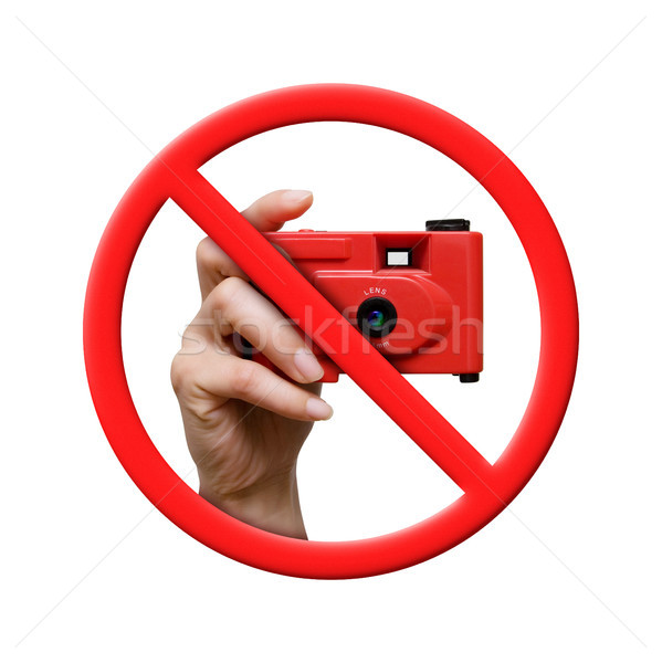 Pas photo interdit signe isolé blanche Photo stock © myfh88