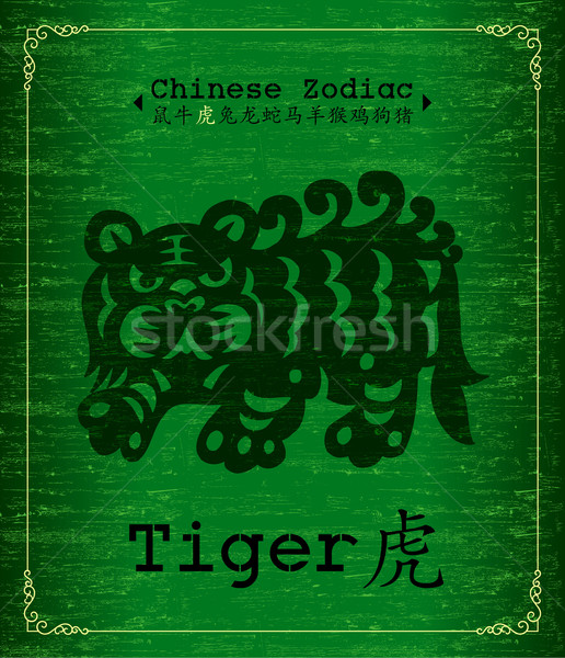 Chinese Zodiac-Year of the tiger Stock photo © myfh88