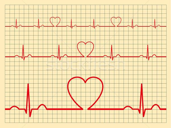 сердце кровь контроля медицина красный черный Сток-фото © myfh88