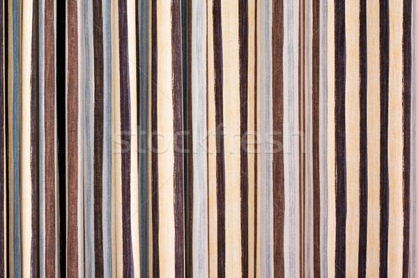 Tekstil kumaş şerit doku siyah Stok fotoğraf © myfh88
