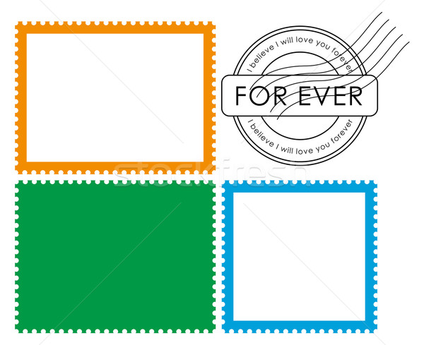Blank postage stamp-Vector Stock photo © myfh88