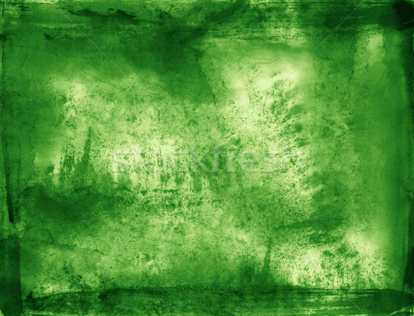 Green brush stroke texture background Stock photo © myfh88