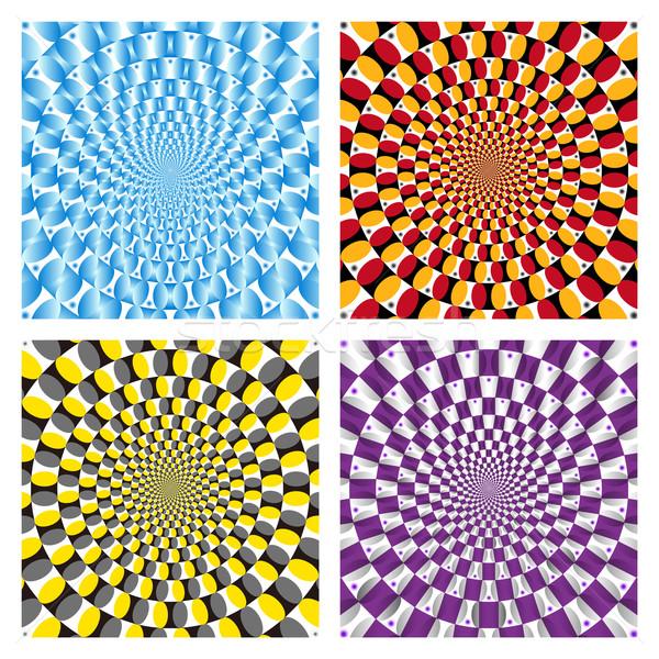 вектора спин цикл набор текстуры Сток-фото © myfh88