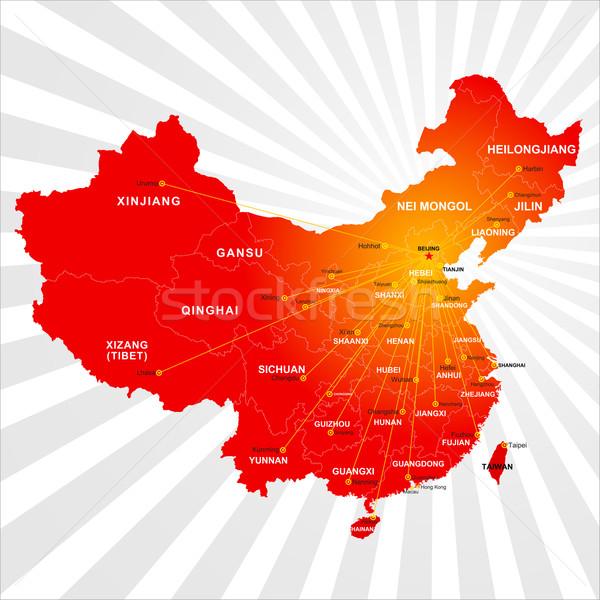 Vektör Çin harita dizayn arka plan imzalamak Stok fotoğraf © myfh88