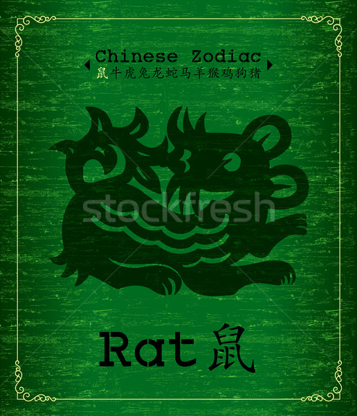 Chinese Zodiac - Year of the rat Stock photo © myfh88