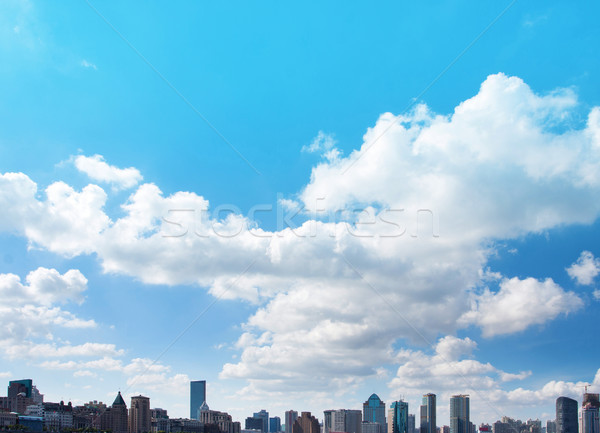 Cloudy sky in Shanghai ,China Stock photo © myfh88
