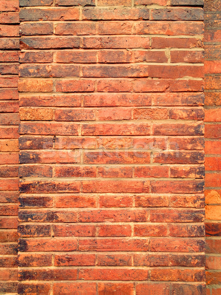 красный кирпичная стена здании стены фон Сток-фото © myfh88
