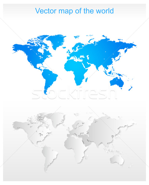 Wektora mapie świata działalności Pokaż świat ziemi Zdjęcia stock © myfh88