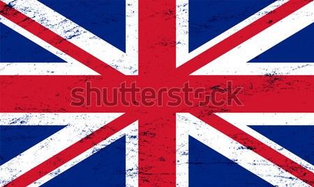 Vektör grunge bayrak Büyük Britanya dizayn imzalamak Stok fotoğraf © myfh88