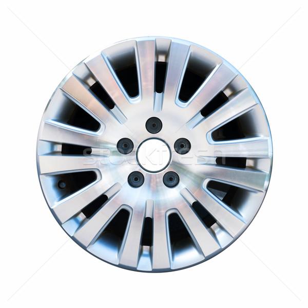 Car aluminum wheel rim isolated on white background Stock photo © myfh88