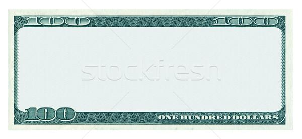 100 доллара банкнота шаблон изолированный белый Сток-фото © myfh88
