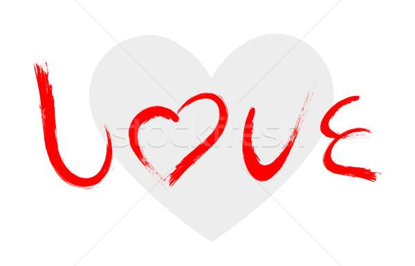 вектора любви характер щетка Живопись изолированный Сток-фото © myfh88
