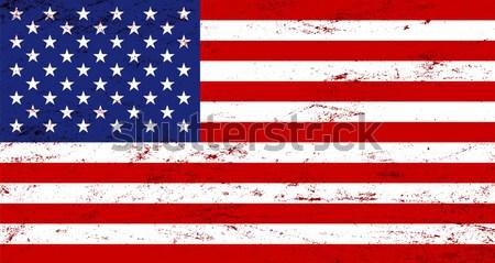 Wektora grunge USA banderą tekstury niebieski Zdjęcia stock © myfh88