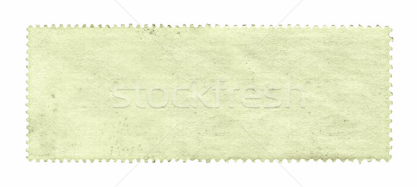 Blank postage stamp background textured isolated on white Stock photo © myfh88