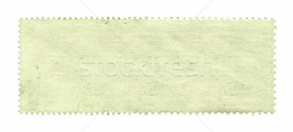 Znaczek pocztowy odizolowany biały papieru tekstury Zdjęcia stock © myfh88
