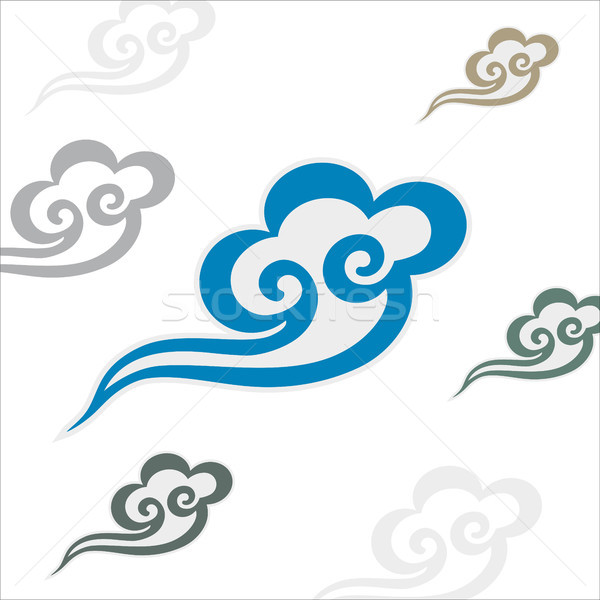 Vector Chinese cloud pattern vector illustration © Yonghui