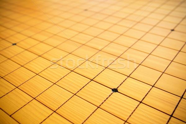 Oyun satranç tahtası Çin ahşap arka plan alan Stok fotoğraf © myfh88
