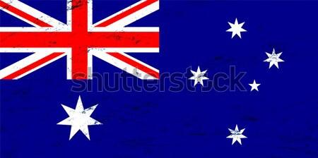 Vetor grunge Austrália bandeira negócio assinar Foto stock © myfh88