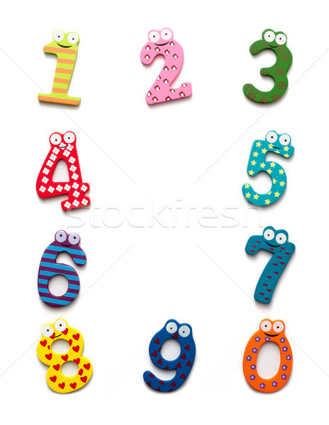 Funny number isolated on white background Stock photo © myfh88