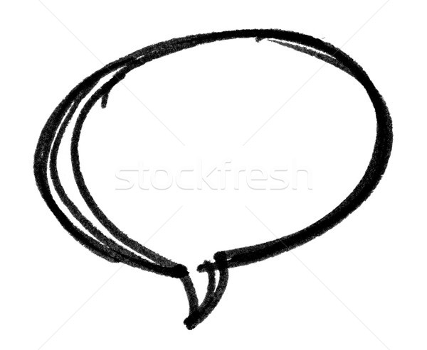 Speech bubble with brush stroke isolated on white background Stock photo © myfh88