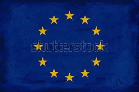 вектора Гранж европейский Союза флаг текстуры Сток-фото © myfh88